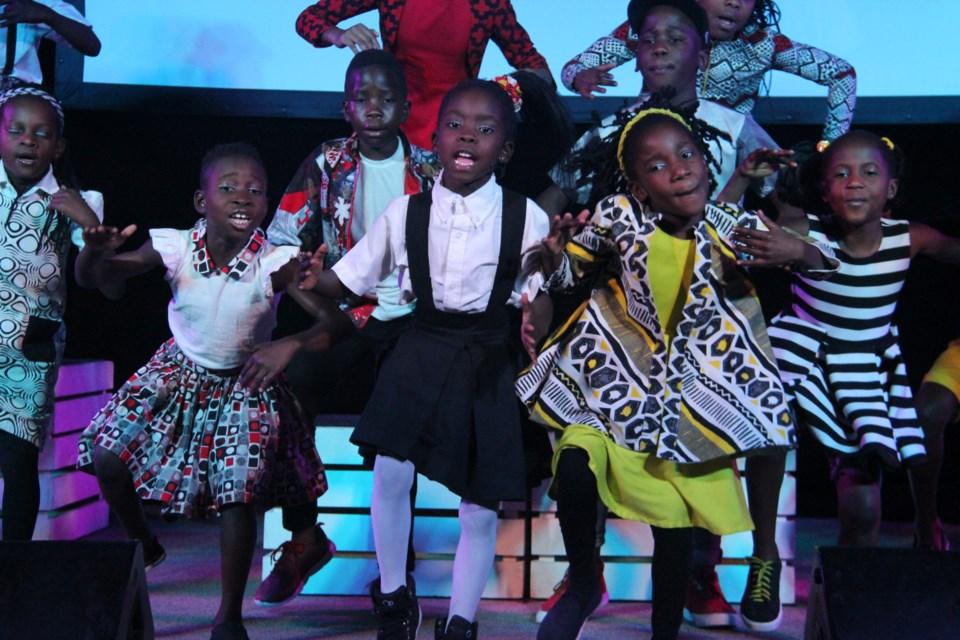 The Watoto Children's Choir performs at the New Sudbury Pentecostal Church Sunday morning. (Heidi Ulrichsen/Sudbury.com)