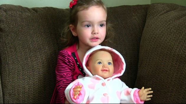 Video: This doll doesn't just look like a Val Caron tot, it is her - Sudbury.com