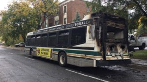<updated>Updated:</updated>Cedar Street closed for cleanup after bus fire