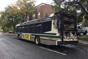<updated>Updated: </updated>Cedar Street closed for cleanup after bus fire