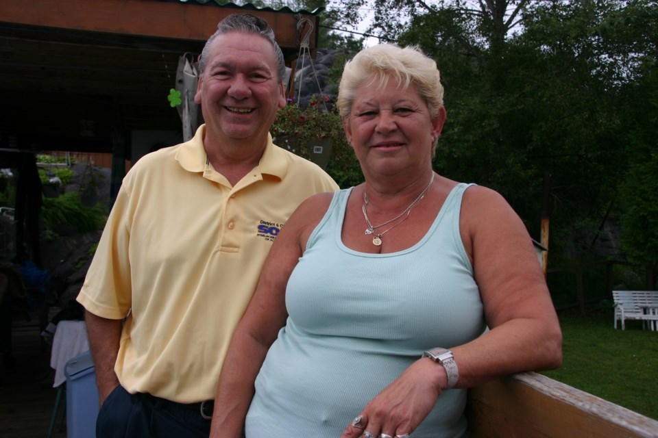 Julien Dionne and wife Sue in a 2010 file photo. (File)