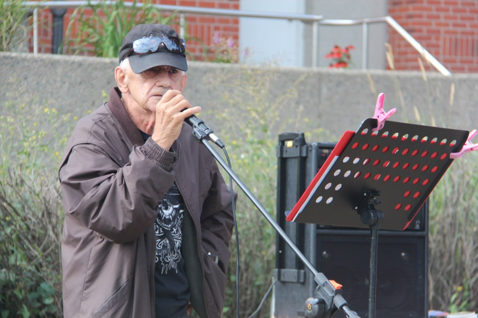 Larry Nault shared his experiences with the correctional system at the Prisoners' Justice Day event outside of the Sudbury Jail Aug. 10. (Heidi Ulrichsen/Sudbury.com)