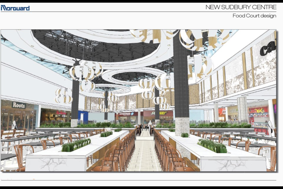 The New Sudbury Centre is investing $1.8 million to renovate its food court, which hasn't been updated since 1984. Supplied photo.