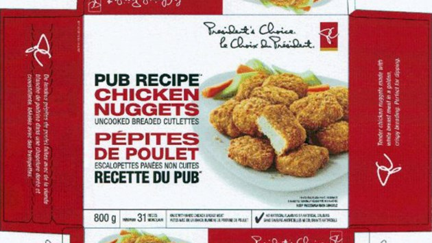 Loblaw recalls chicken nuggets over salmonella concern