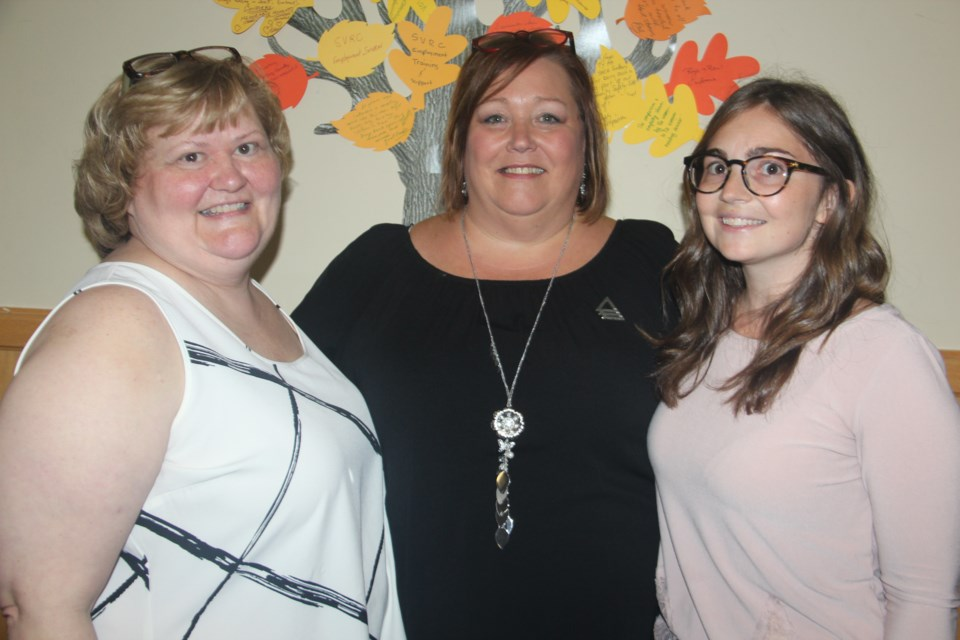 From left are Bonnie Cushing, finance and personnel clerk at YWCA Sudbury, Marlene Gorman, executive director, and Karly Carlucci, media and special events co-ordinator. (Heidi Ulrichsen/Sudbury.com)