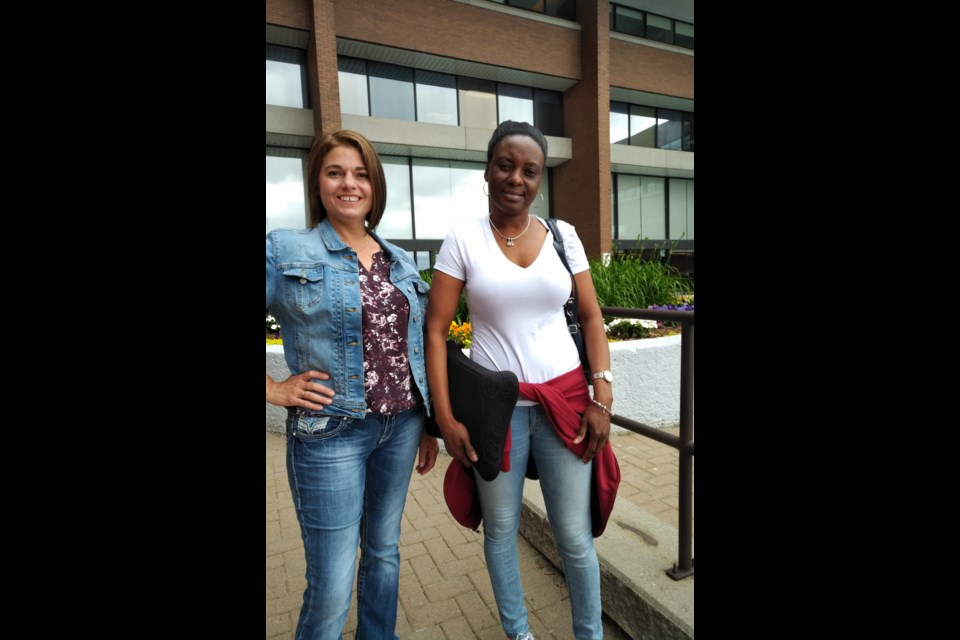 Tanya Aldred (left) and Sidratu Lafleur (right) are two students in the Personal Support Worker program at Cambrian College this summer. (Supplied)