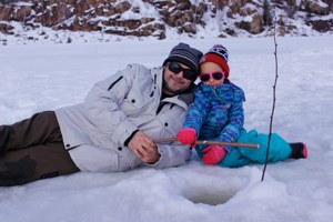 PHOTOS: Families come out in droves for ice fishing day