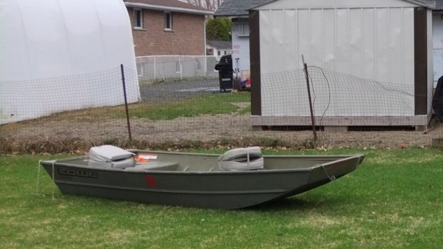 was this time a storm left a boat in my backyard