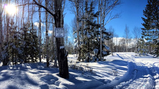 Beautiful Kivi Park, located at 4472 Long Lake Rd., is now open for snowshoeing, hiking, walking, fatbiking and dog walking. Image: KiviPark.com
