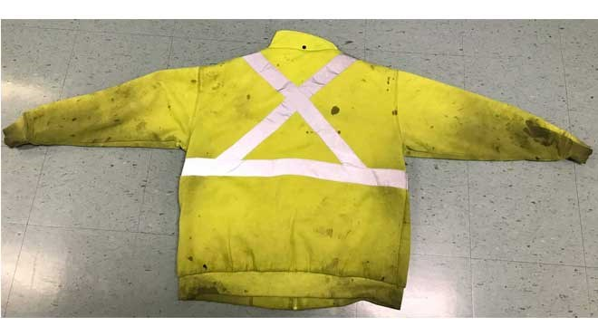 Greater Sudbury Police have released photos of the type of jacket Tyler Haney was last seen wearing. (Supplied)