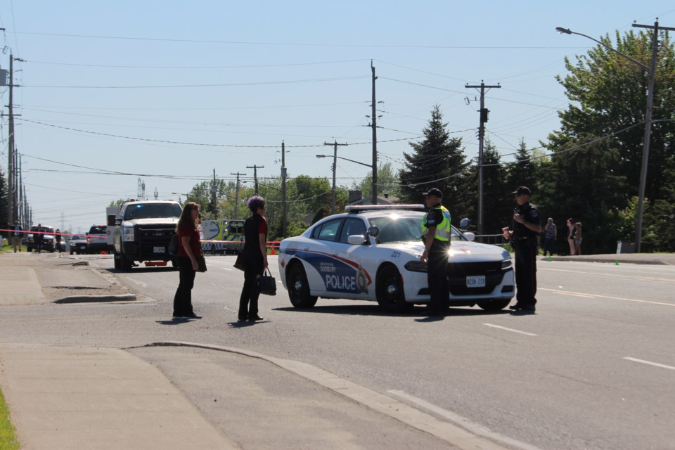 Police continue to investigate a fatal hit and run that occurred in Garson yesterday afternoon. (Allana McDougall/Sudbury.com)