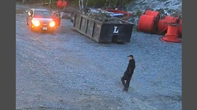 Greater Sudbury Police are seeking the assistance of the public in identifying a suspect in relation to a theft from a business on Chalmers Road. (Supplied)