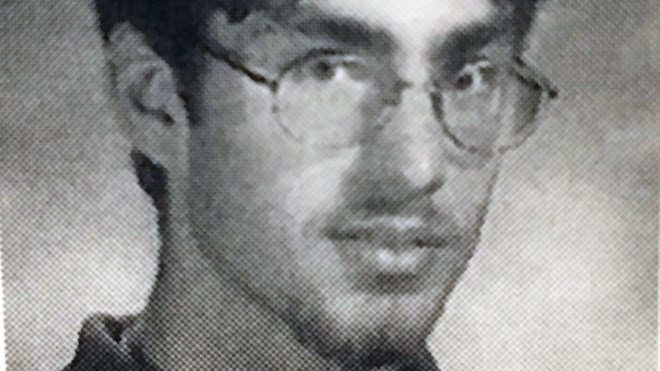 Robert Steven Wright, photo Lockerby Composite yearbook late 1990s, around the time of the Renée Sweeney murder. (Police handout)