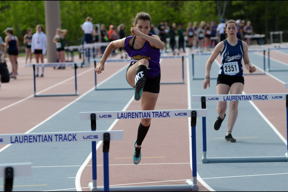Action from the city track and field championships, held during the week of May 15, 2017, at the Laurentian University track.  (Arron Pickard)