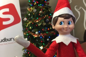 ICYMI: Our security cameras caught Elf on a Shelf making a snowman!