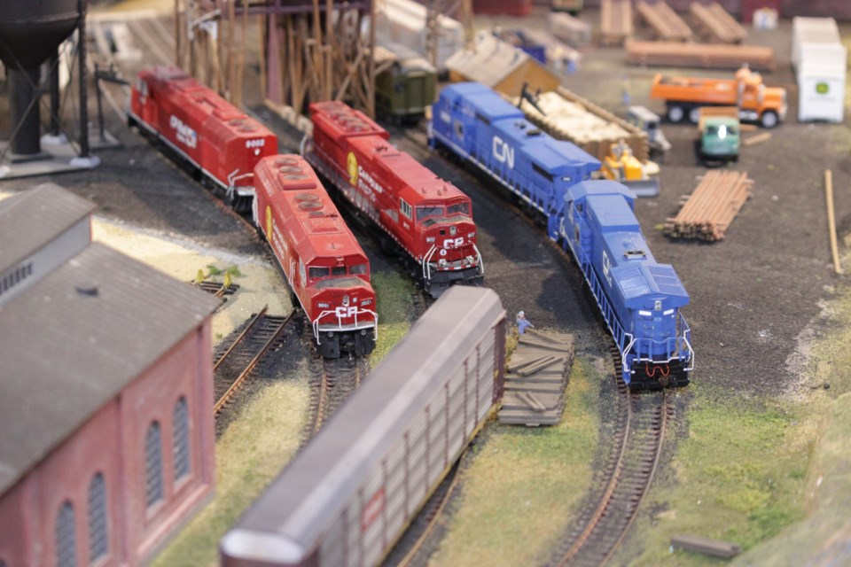 The Northern Ontario Railroad Museum in Capreol claims its new model railroad is the largest in the region. It takes up one thousand square feet with 600 feet of track, cost nearly $50,000, and took two years to complete. (Callam Rodya/Sudbury.com)