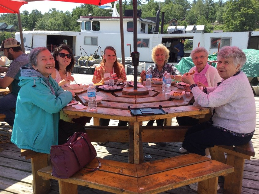 Five residents from St. Joseph's Villa and six from Villa St. Gabriel's Villa travelled to Killarney on July 6 for their summer excursion. (Supplied)