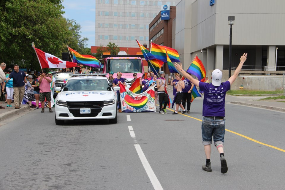 Hundreds of Sudburians were in Memorial Park on Saturday afternoon for Sudbury Pride's Pride in the Park celebration. (Photo: Matt Durnan)