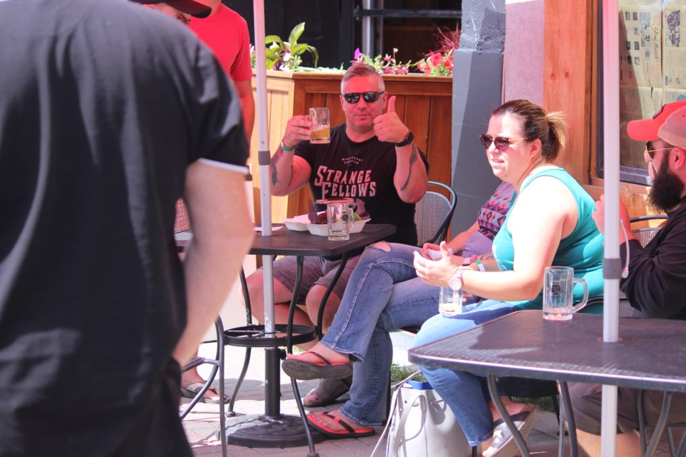 Downtown Sudbury? It was more like Downtown 'Sudsbury' on Aug. 12 as the Elgin Street Craft Beer Festival took over the corner of Elgin and Grey Streets. (Callam Rodya/Sudbury.com)