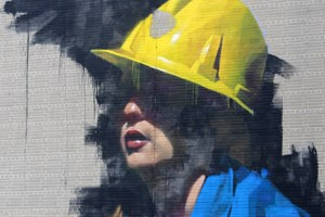 New kid on the street: Check out this kick-ass miner mural downtown