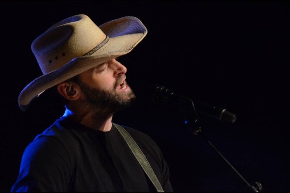Dean Brody took the stage at the Fraser Auditorium on Nov. 4. (Marg Seregelyi)