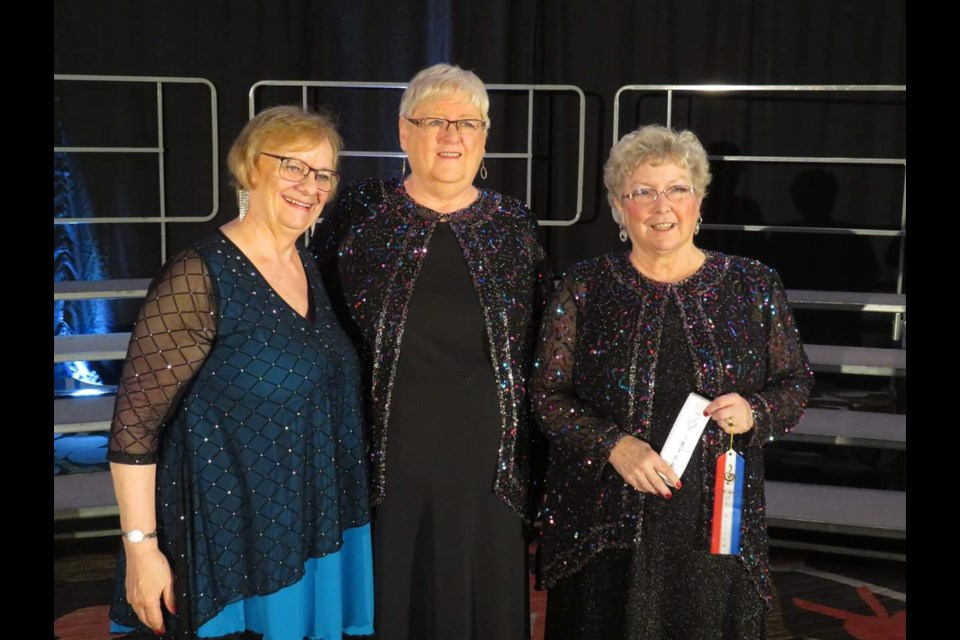 From left are judging chairperson Melanie Menzie, Nickel City Sound president Jean McHarge and Nickel City Sound director Wanda Olsen. (Supplied)