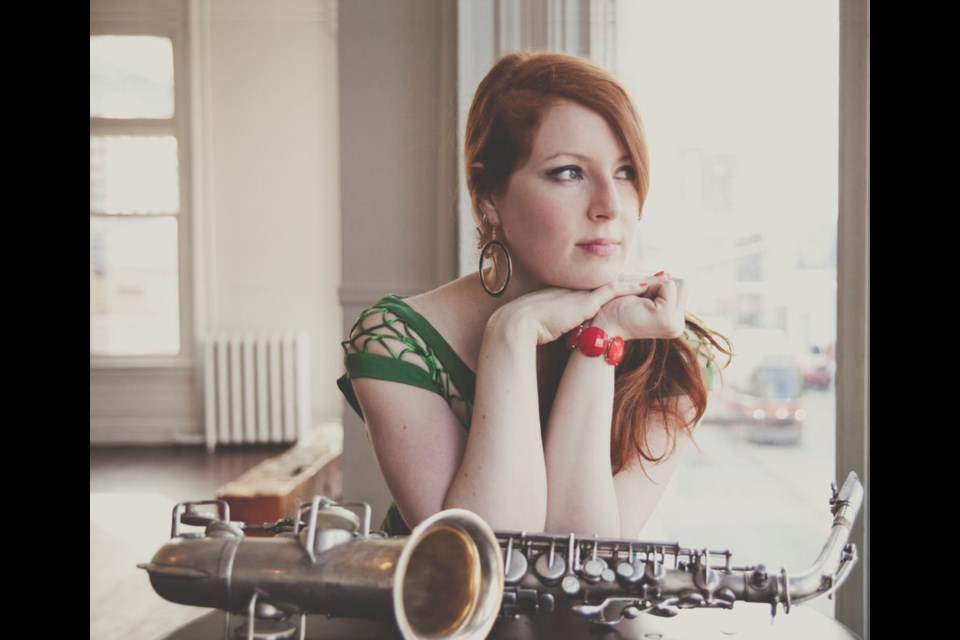 Alison Young, Canadian saxophonist and composer to perform at the Sudbury Theatre Center as part of the Jazz Sudbury Festival Bourbon Street Jazzwalk. (Supplied)