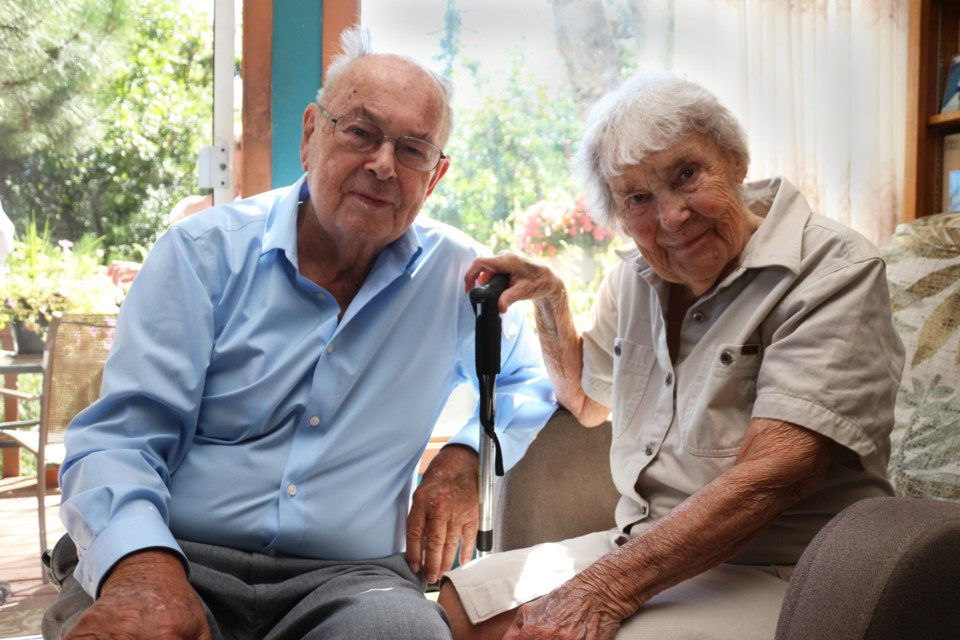 Andrzej and Janina Mrozewski, married Aug. 21, 1954 in Montreal, celebrated their 65th wedding anniversary at their home in Sudbury Saturday. (Keira Ferguson/ Sudbury.com)