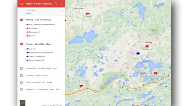 City to place bear sightings on an interactive map Sudburycom