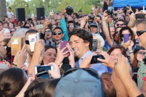 <updated>Video:</updated> Frenzy at Science North for Trudeau BBQ