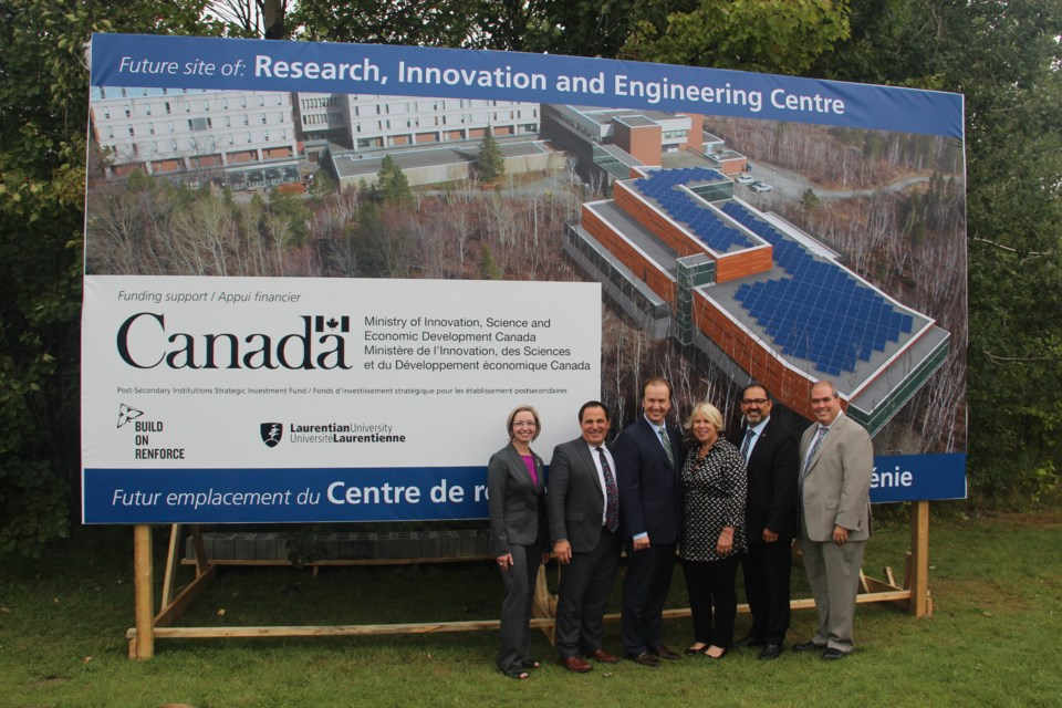 Laurentian University is building a new $60.7 million Research, Innovation and Engineering Building. It's receiving $27.3 million from the federal and provincial governments to pay that bill. Photo by Heidi Ulrichsen.