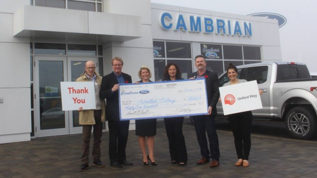 Driving Social Change Cambrian Ford Gives To United Way