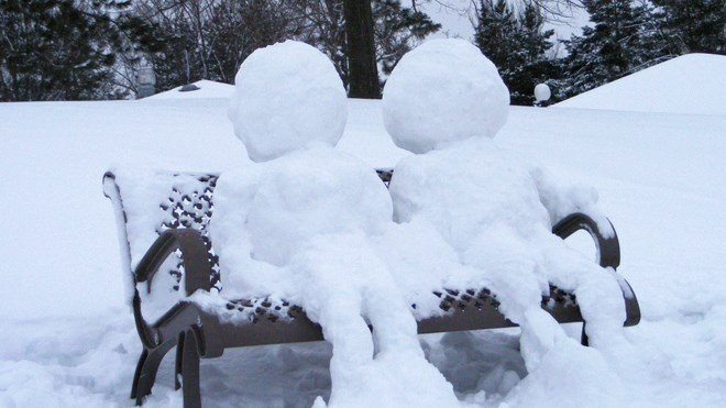 Sudbury.com reader David Hay sent us these photos of a neat snow sculpture found in Bell Park.