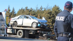 <updated>Video:</updated> Train and vehicle collide at rail crossing in Coniston