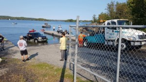 <b>Video:</b> Truck and trailer take a dip in Ramsey Lake