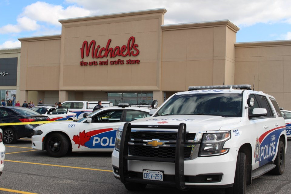 Woman and young child taken to hospital following a possible stabbing on Marcus Drive. The suspect has been placed under arrest and also taken to hospital for self-inflicted injuries (Keira Ferguson/Sudbury.com)