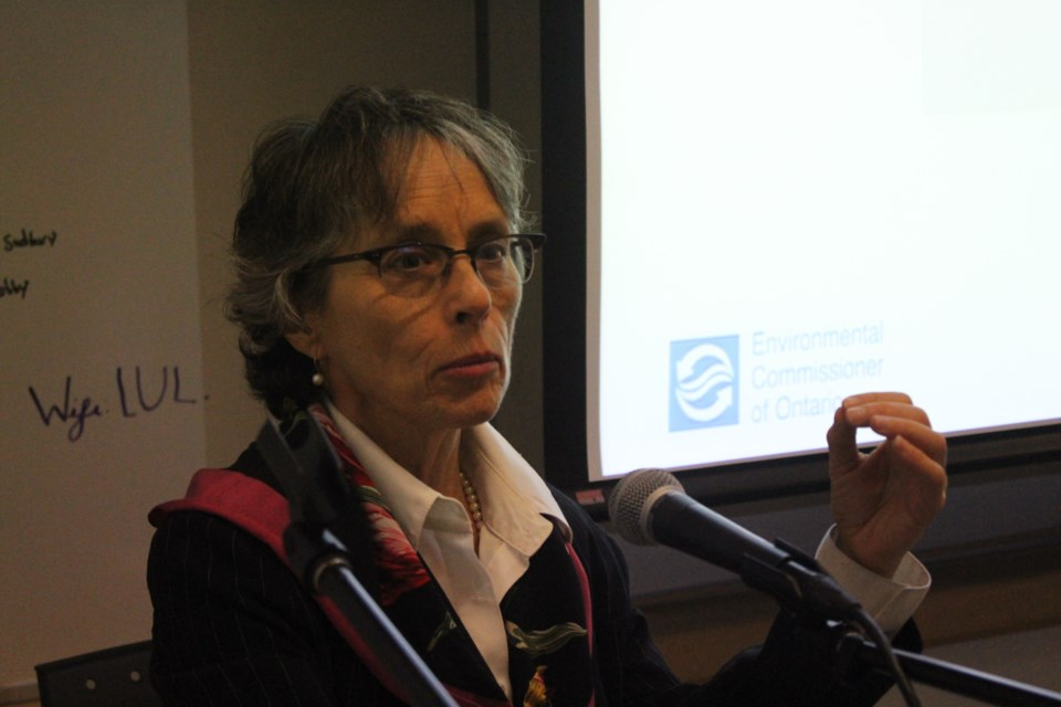 Ontario's Enviromental Commissioner Diane Saxe visited Sudbury on Jan. 8 for a sobering talk on climate change in Northern Ontario. (Matt Durnan/Sudbury.com)