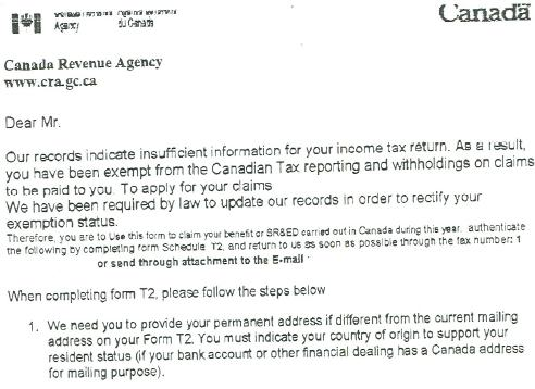 fake revenue canada letters used to steal personal info sudburycom