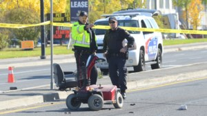 <updated>Update:</updated><b> Southbound Notre Dame lanes re-opened after collision</b>