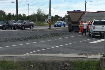 Gravel spill on Highway 144 snarling traffic in Chelmsford