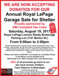 Annual Royal LePage Garage Sale for Shelter
