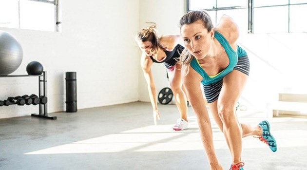 HIIT workout stock