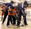 Puck drops for Special Olympians floor hockey competition