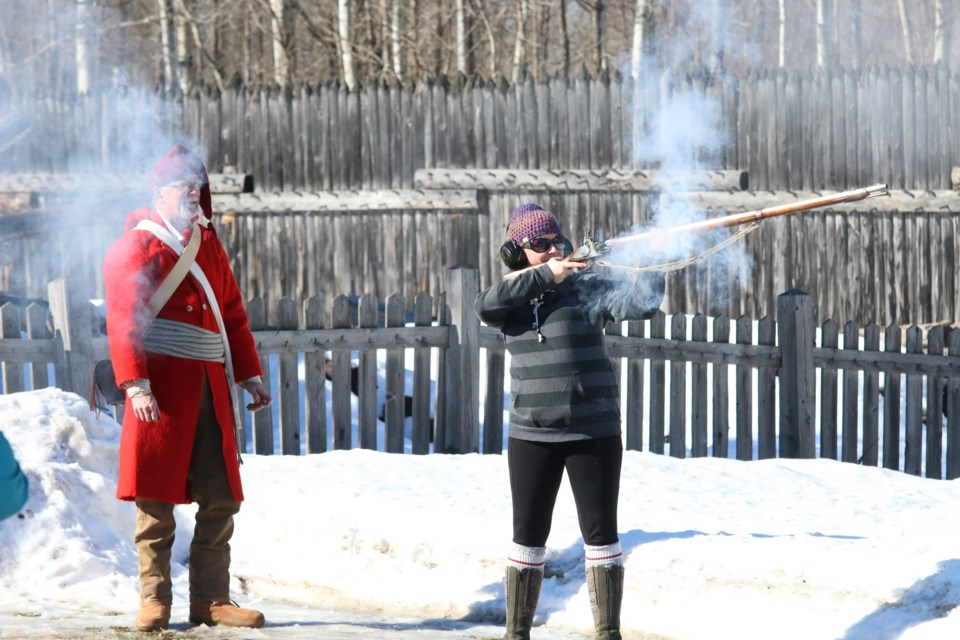 The Fort William Historical Park Winter Carnival returns this weekend and will include all the outdoor favourites, from musket firing to the snow maze. (File photo).