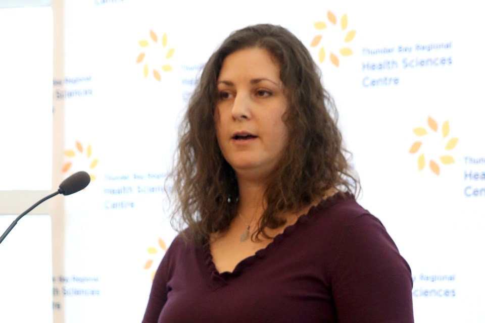 Erica Moorhouse, the manager of labour and delivery and maternal newborns in the hospital's maternity centre, says a CuddleCot will help grieving parents be able to say a proper goodbye to stillborn infants (Leith Dunick, tbnewswatch.com).