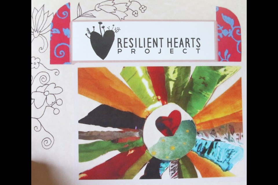 A 24-page book about the Resilient Hearts Project captures some of the art and experiences of those who participated.