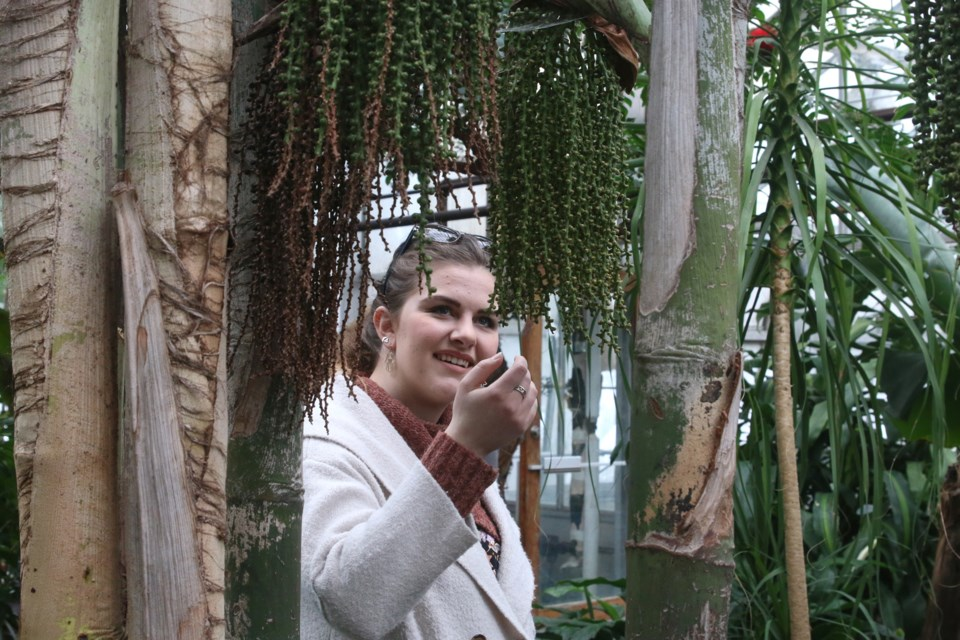 Jacqueline Dyck said she forgot how beautiful it is at the Centennial Botanical Conservatory but was reminded during her visit to the Spring into Life event on Sunday.