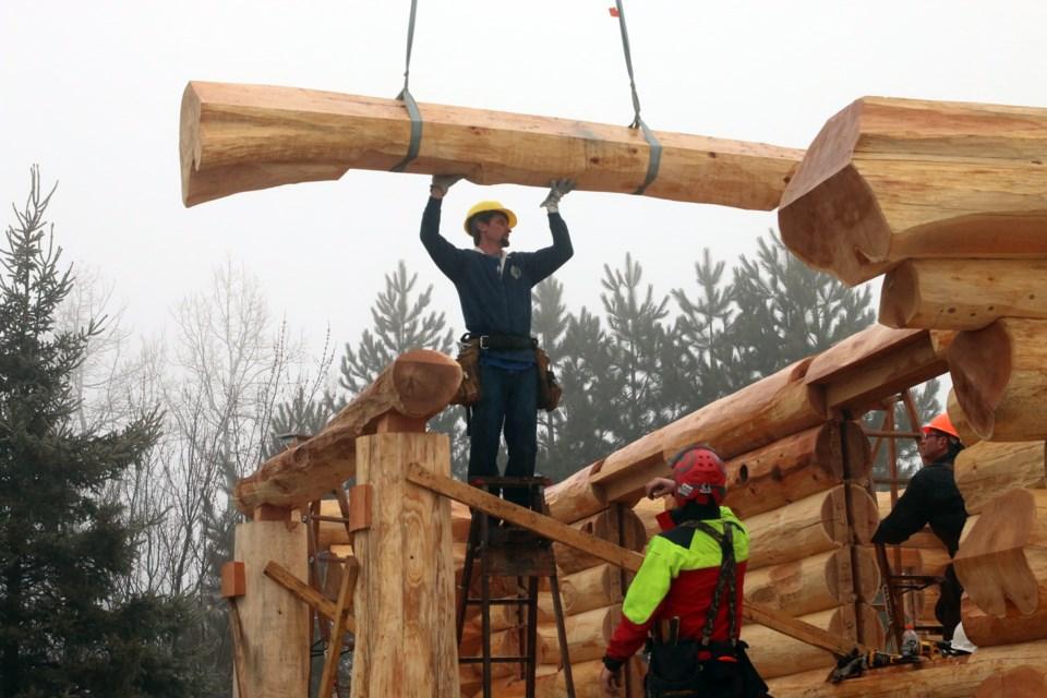 building a home one log at a time. Black Bedroom Furniture Sets. Home Design Ideas