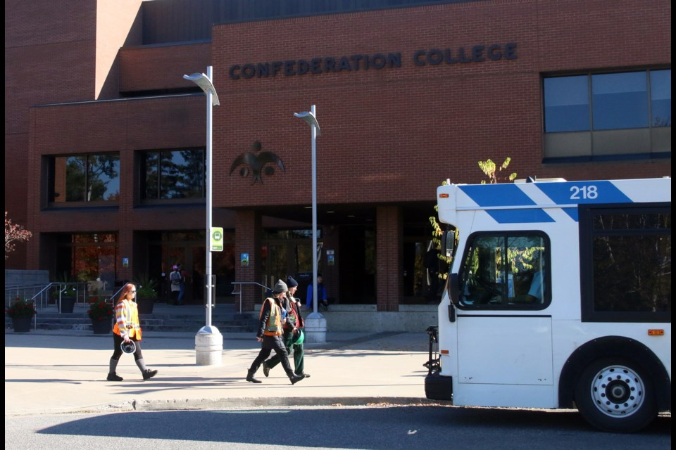 Students may be locked out of the classroom at Confederation College next Monday with OPSEU members potentially taking to the picket line.