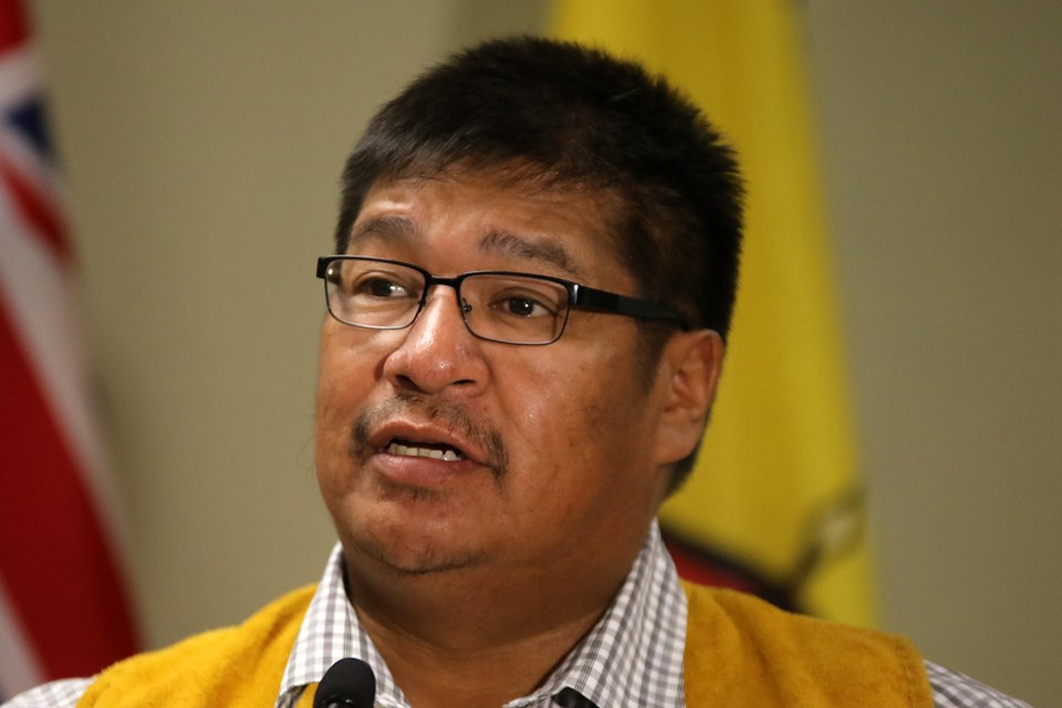 Neskantaga First Nation Chief Wayne Moonias on Friday, Oct. 6, 2017 says improving broadband access to five Matawa First Nation communities has taken time, but if done right should improve the lives of those who live there, espeically the younger generation (Leith Dunick, tbnewswatch.com).